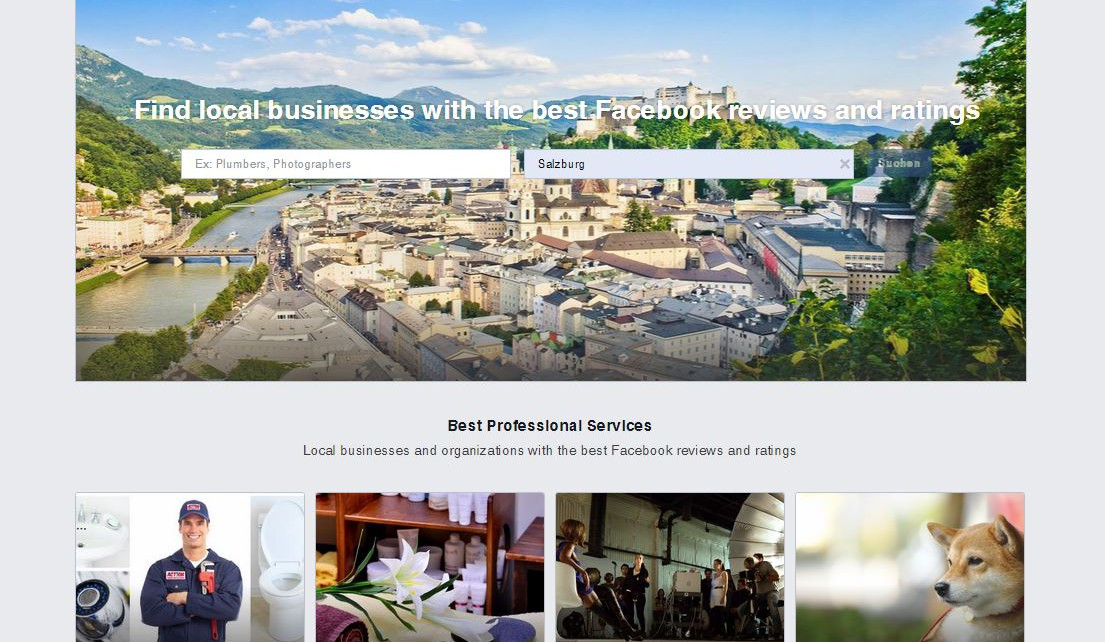 facebook services brancheneinträge