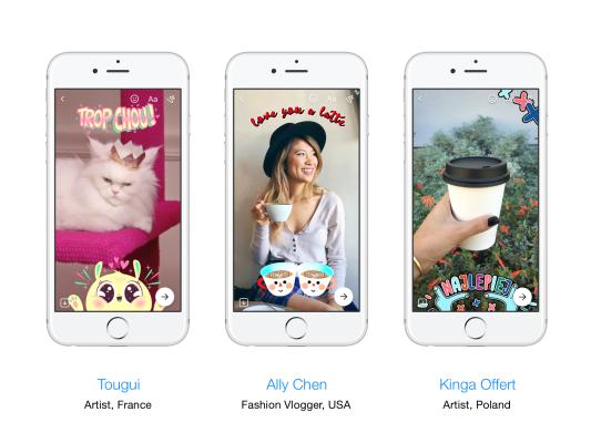 Sticker, Bilder und Emojis für noch interessantere Kommunikationen!