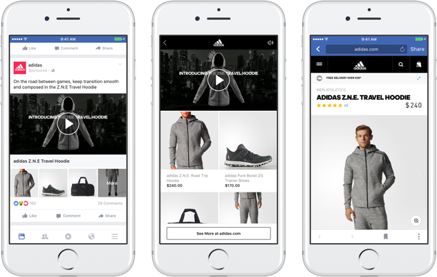 """Adidas als Betatester im Einsatz für Facebook """"Sammlung"""""""