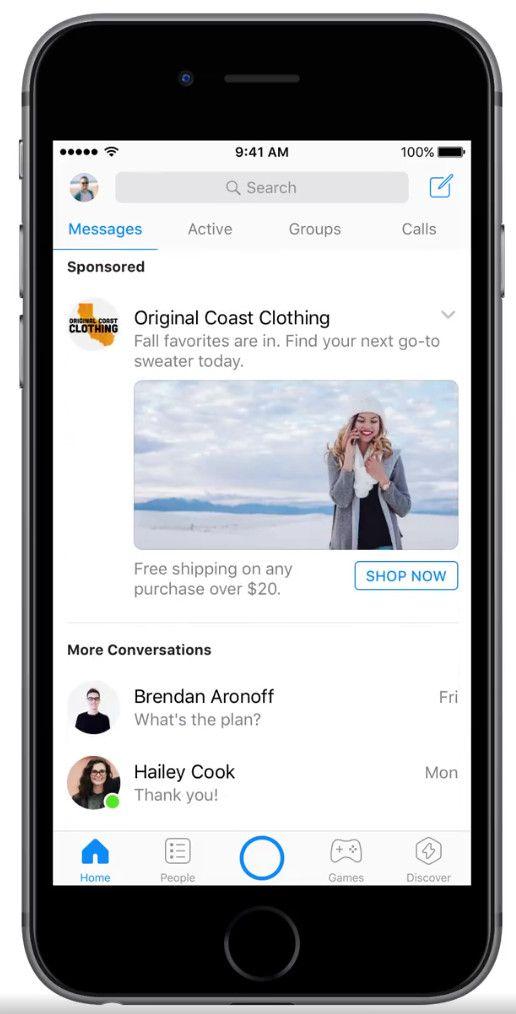 Messenger Ads (Quelle: Facebook)